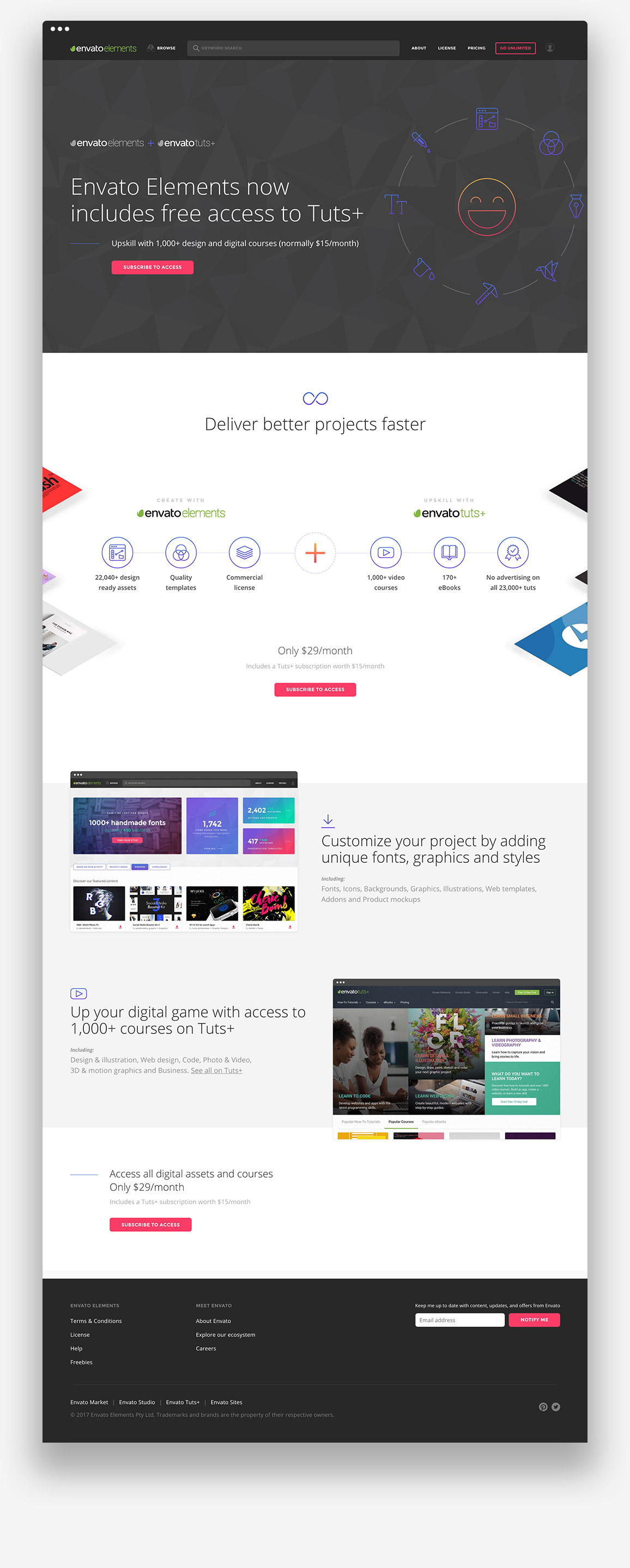 Envato-Elements-Courses-on-elements-Landing-Page-browser